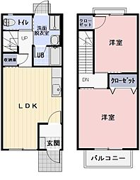 三重県伊勢市上地町の賃貸アパートの間取り