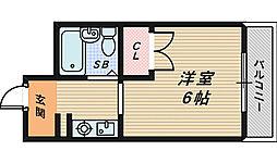 三貴ハイツ[3階]の間取り