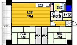 第一城戸ビル[503号室]の間取り