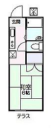 フラッツ京明[203号室]の間取り