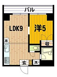 横浜三吉町第4レッツビル[405号室]の間取り