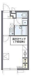 南海高野線 北野田駅 徒歩15分の賃貸アパート 2階1Kの間取り
