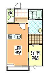 e−スマイル小松[203号室]の間取り