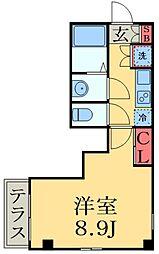 京成本線 大神宮下駅 徒歩5分の賃貸マンション 1階1Kの間取り