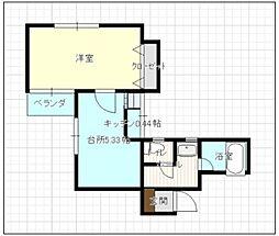 シェラハウス[4階]の間取り