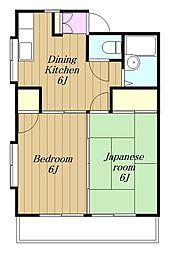 神奈川県横浜市瀬谷区相沢7丁目の賃貸アパートの間取り