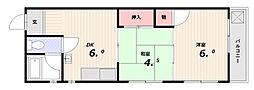 平野ビル[4階]の間取り