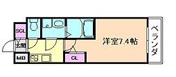 サムティ福島ルフレ 3階1Kの間取り