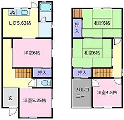 [一戸建] 大阪府松原市河合3丁目 の賃貸【/】の間取り