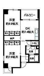 レプリオ阿倍野[4階]の間取り