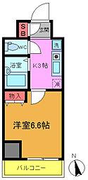 千葉県船橋市本町3丁目の賃貸マンションの間取り
