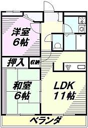 チャオハイム振栄7[4階]の間取り