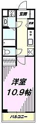 JR八高線 北八王子駅 徒歩11分の賃貸マンション 1階1Kの間取り