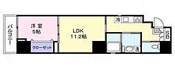 東京都台東区上野5丁目の賃貸マンションの間取り