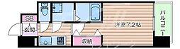 Osaka Metro谷町線 野江内代駅 徒歩7分の賃貸マンション 3階1Kの間取り