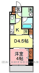 KWレジデンス東上野[305号室]の間取り