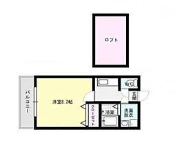 福岡県福岡市早良区野芥1丁目の賃貸アパートの間取り