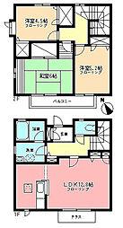 [テラスハウス] 神奈川県横浜市青葉区美しが丘3丁目 の賃貸【神奈川県 / 横浜市青葉区】の間取り