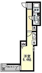 DAICHI 1階ワンルームの間取り