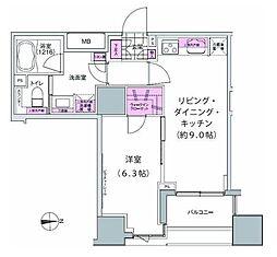 プレジリア東日本橋[7階]の間取り
