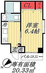 東京メトロ東西線 浦安駅 バス16分 サンコーポ東口下車 徒歩2分の賃貸マンション 2階1Kの間取り