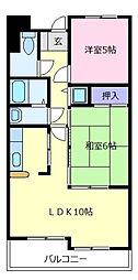 大阪府松原市上田4の賃貸マンションの間取り