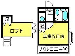 アートパレス新河岸No.5[201号室]の間取り