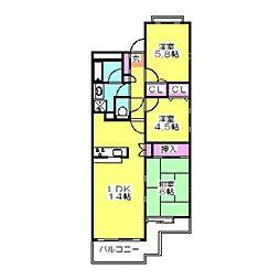 ガーデンハウス綱島A[1階]の間取り
