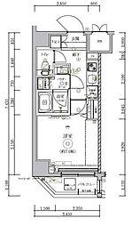トラディス横川 2階1Kの間取り