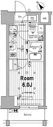 メイクスデザイン川崎II 9階1Kの間取り