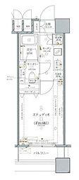 ファーストリアルタワー新宿(旧 アクス・ザ・タワー新宿) 10階1Kの間取り