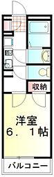 東武東上線 成増駅 徒歩9分の賃貸マンション 3階1Kの間取り
