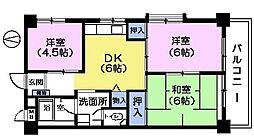 ザ インペリアルマンション[3階]の間取り
