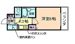 兵庫県川西市見野1丁目の賃貸マンションの間取り