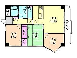 メゾンN緑丘B棟[1階]の間取り