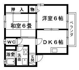 アポロII[1階]の間取り