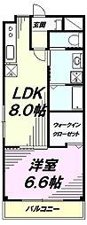 東京都八王子市梅坪町の賃貸マンションの間取り