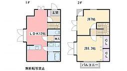 [テラスハウス] 福岡県福岡市東区香椎台4丁目 の賃貸【/】の間取り