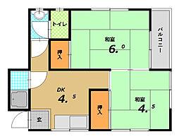 野田マンション[3階]の間取り