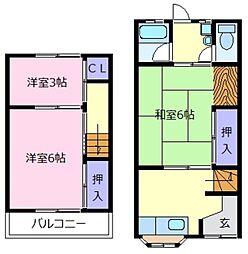 [テラスハウス] 大阪府松原市天美南3丁目 の賃貸【/】の間取り