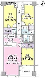 プラウド千川二丁目 2階3LDKの間取り