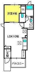 埼玉新都市交通 内宿駅 徒歩8分の賃貸アパート 1階1LDKの間取り