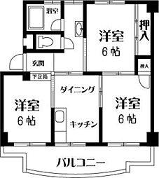 丸山ビル[402号室]の間取り