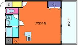 兵庫県神戸市灘区篠原北町3丁目の賃貸マンションの間取り