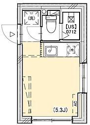 PROTO武蔵小山II 3階ワンルームの間取り