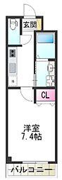 (仮称)堺市堺区向陵中町3丁 新築賃貸マンション 1階1Kの間取り