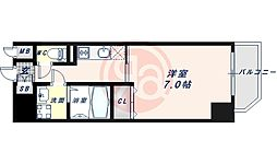 JR大阪環状線 寺田町駅 徒歩6分の賃貸マンション 12階1Kの間取り