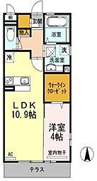 大阪府松原市阿保4丁目の賃貸アパートの間取り