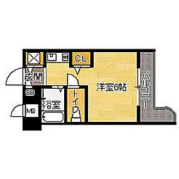 福岡県福岡市東区箱崎2丁目の賃貸マンションの間取り