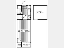 DAISHO TOWN KASUGAI[206号室]の間取り